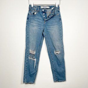 Brandy Melville Distressed High Rise Mom Jeans 24